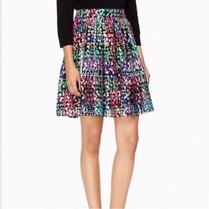 kate spade Metallic Dot Lined  Skirt Sz 4